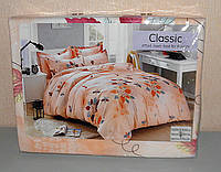 Комплект постельного белья двуспальный мягкий Classic сатин (F-658)