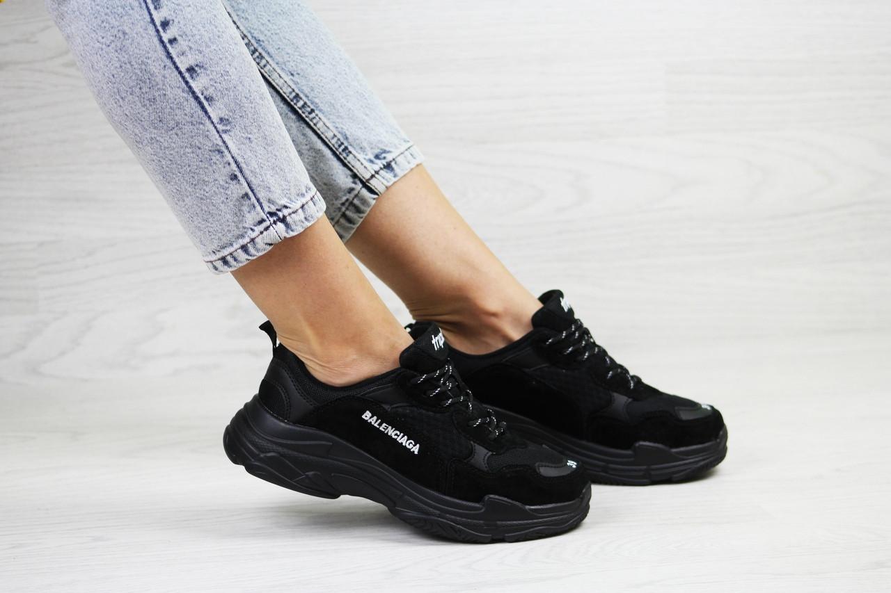 Женские,подростковые кроссовки Balenciaga(Баленсиага),черные