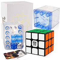 Кубик Рубіка 3х3 Weilong WRM 3x3 (magnetic) чорний (MoYu), фото 1