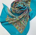 Щелкунчик 827-12, павлопосадский шарф шелковый крепдешиновый с подрубкой, фото 9