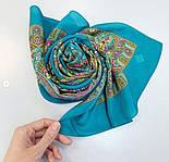 Щелкунчик 827-12, павлопосадский шарф шелковый крепдешиновый с подрубкой, фото 6