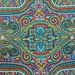 Щелкунчик 827-12, павлопосадский шарф шелковый крепдешиновый с подрубкой, фото 8
