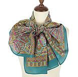 Щелкунчик 827-12, павлопосадский шарф шелковый крепдешиновый с подрубкой, фото 2