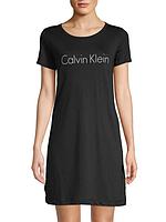 Женская оригинальная чёрная ночная рубашка Calvin Klein
