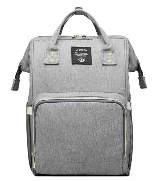 Рюкзак для Мамы на Коляску для Детских Принадлежностей Оригинал Lequeen (L-16369) Серый