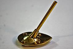 Каблук женский металлический МТ Золото р.0-2  h-8,0-9,0 см.