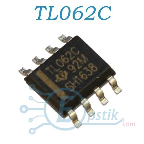 TL062C, здвоєний операційний підсилювач, SOP8