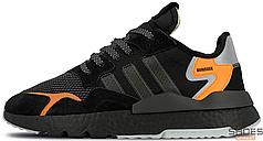 Мужские кроссовки Adidas Nite Jogger Core Black/Carbon/Active Blue CG7088, Адидас Найт Джогер