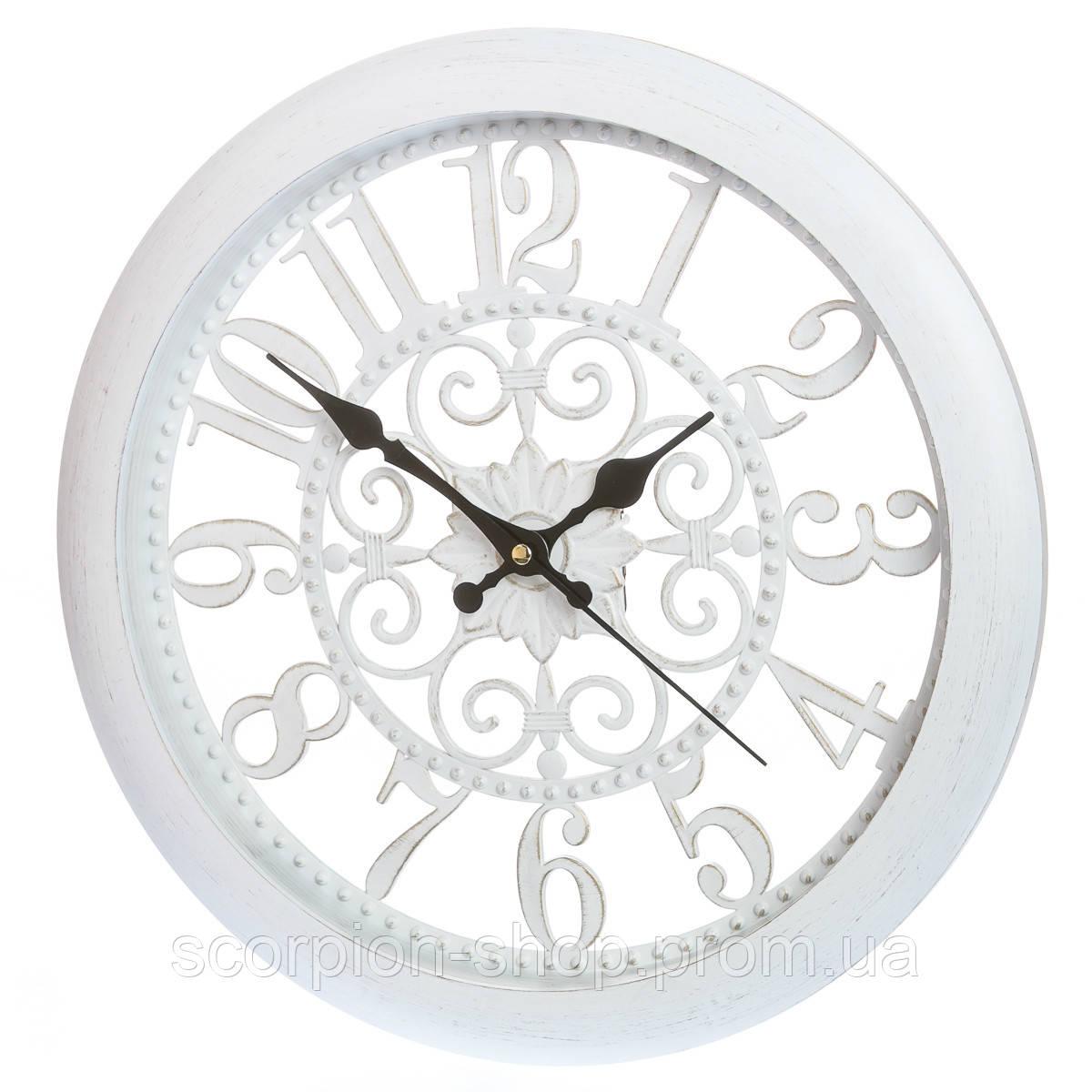 Настенные часы (Ø 36 см) ажурные (132A/white)