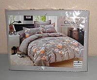 Комплект постельного белья двуспальный мягкий Classic сатин (F-677)