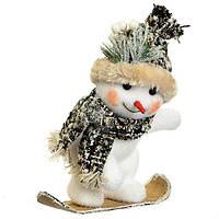 Фигурка Снеговик сноубордист Новогодний декор