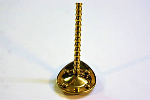 Каблук женский пластиковый МБ Золото р.0-1  h-8,0-8,5 см., фото 2