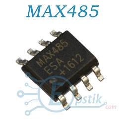 MAX485ESA, приемопередатчик сигналов RS-485/RS-422, SOP8
