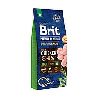 Сухой корм Брит Премиум для взрослых собак гигантских пород (Brit Premium Adult XL) с курицей, 15 кг