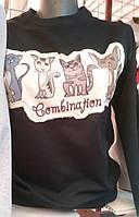 Свитшот с пайетками Коты 44-50, фото 1