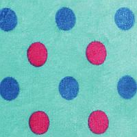 Велсофт-махра светло-бирюзовая с цветными кругами ш.180 (23222.006)