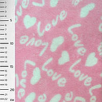 Велсофт-махра розовая LOVE ш.170 (23224.005)