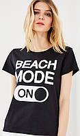 Женская футболка Beach Mode ON, стильна жіноча футболка