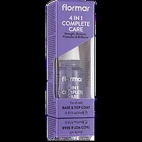Комплексний догляд за нігтями 4 в 1, Flormar, 11 мл