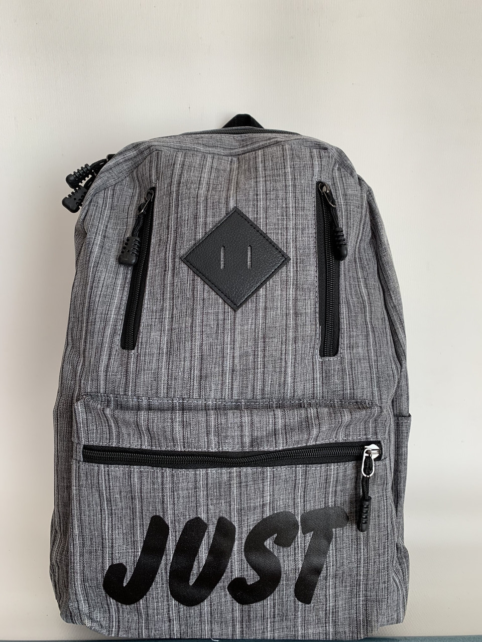 Серый рюкзак унисекс текстильный спортивный