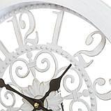 Настенные часы (Ø 36 см) ажурные (132A/white), фото 2