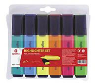 Набор текстовых маркеров Optima 6шт, цвет ассорти