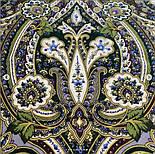 Золота клітка 1826-9, павлопосадский вовняну хустку з шовковою бахромою, фото 4