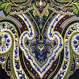 Золотая клетка 1826-9, павлопосадский платок шерстяной с шелковой бахромой, фото 3