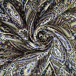 Золотая клетка 1826-9, павлопосадский платок шерстяной с шелковой бахромой, фото 6