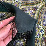 Золотая клетка 1826-9, павлопосадский платок шерстяной с шелковой бахромой, фото 7