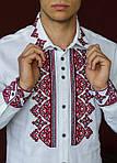 Дизайнерская вышитая сорочка мужская из натурального льна, фото 3