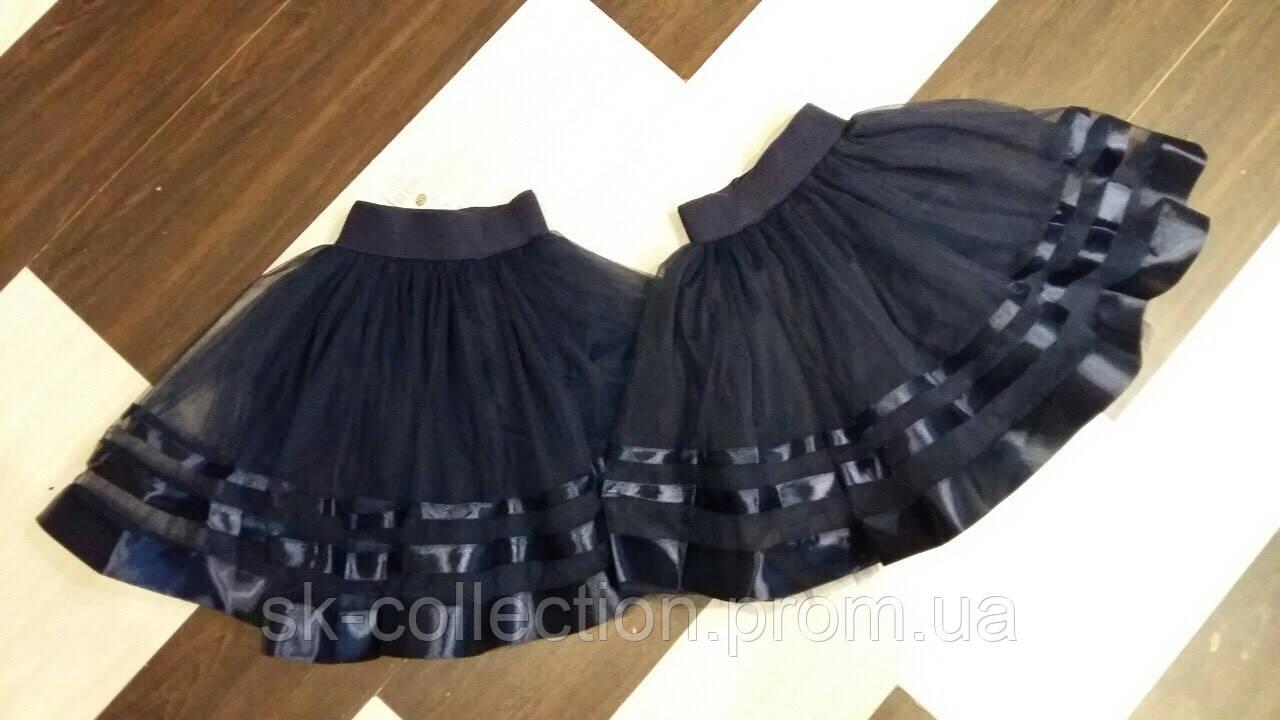 Школьная юбка фатин, размеры:128, 134, 140, 146, 152 см.