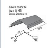 Планка конька полукруглая.0.5 мм. РЕ 25 мк -Термастил., фото 7