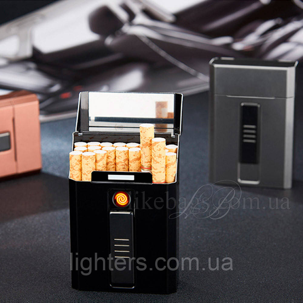 купить портсигар мужской на 20 сигарет с зажигалкой недорого в интернет магазине