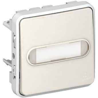 Механизм Выключателя кнопочного з НВ контактом (с подсветкой 12В + тримач етикетки)
