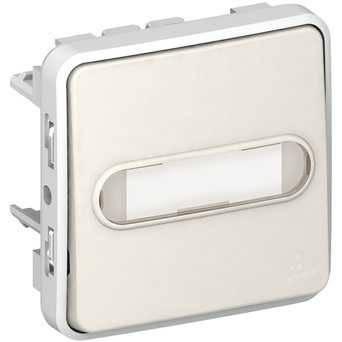 Механизм Выключателя кнопочного з НВ контактом (с подсветкой 12В + тримач етикетки) , фото 2