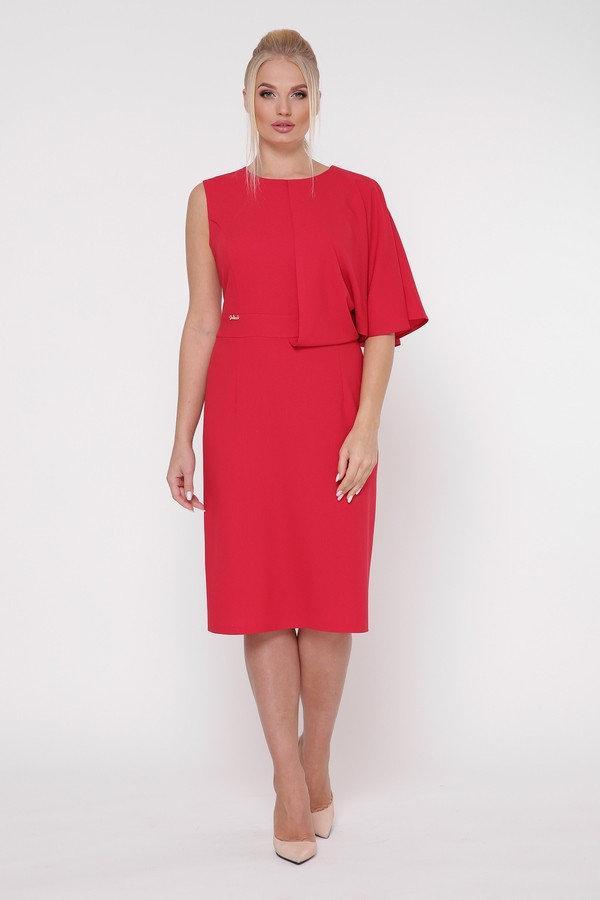 Яркое красивое женское платье Надин красный (50-56)