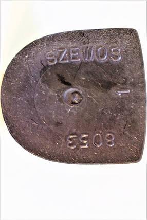 Каблук женский пластиковый 8053 р.1-3  h-8,0-8,5 см., фото 2
