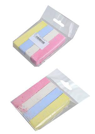 """Мел цветной, 4 цвета, квадратный """"Пакет"""", мягкий 16*16*80мм, """"ЛЮКС КОЛОР"""", А-140, фото 2"""