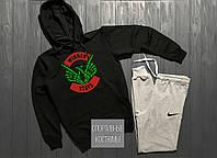 Мужской спортивный костюм Nike, Найк, черный верх, серый низ (в стиле)