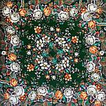 Любушка-голубушка 1824-9, павлопосадский платок шерстяной с шелковой бахромой, фото 6