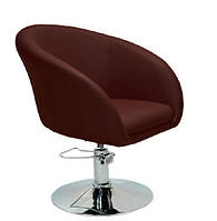 Кресло парикмахерское Мурат P экокожа, цвет коричневый