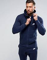 Спортивный мужской зимний  костюм найк синий в стиле змейка