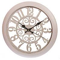 Настенные часы (Ø 36 см) ажурные (132A/cream)