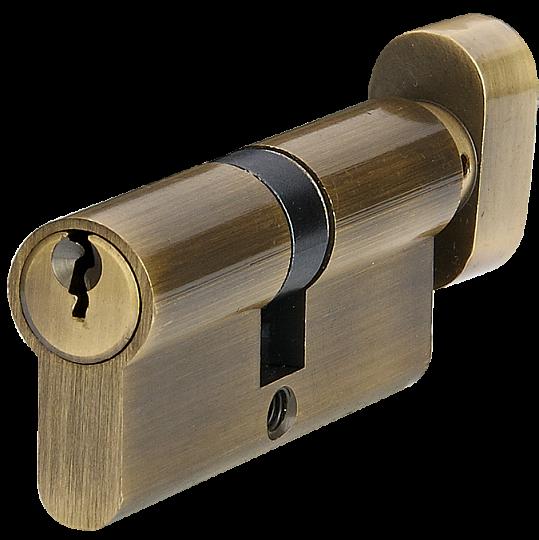 Цилиндр английский тумблер ключ P6E30T/40 AB старая бронза