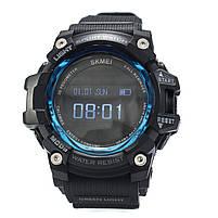 Смарт-часы спортивные Skmei 1188 Black Blue, фото 3