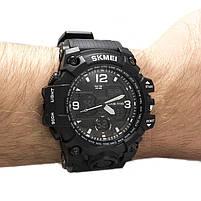 Часы спортивные Skmei 1155B Black-White, фото 2