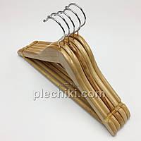 Деревянные тремпеля плечики для детской одежды светлые LUX, длина 340 мм