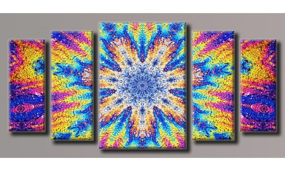 Модульная картина Кислотная абстракция 55х115 см (HAB-083)