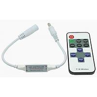 LED  диммер mini 6A RF 72W 12V с управлением по RF каналу для светодиодной ленты